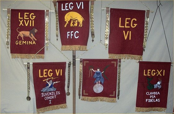SOTW Custom Hand Painted Vexillum and BannersRoman Legion Banners